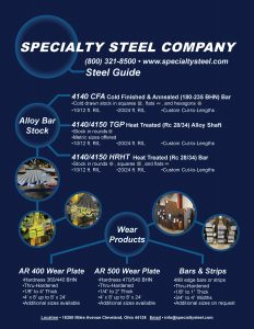 Specialty Steel Company Line Card